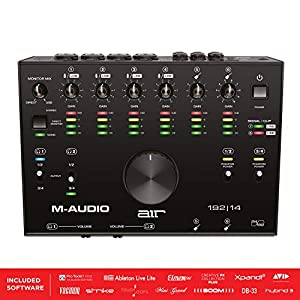 M-Audio AIR 192|14 - 8-In 4-Out USB Audio / MIDI Interface with Recording Software from Pro-Tools & Ableton Live, Plus Studio-Grade FX & Instruments by inMusic Brands Inc