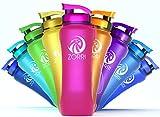 ZORRI - Borraccia da 1 l, 600 ml, 800 ml, 1,2 litri, senza BPA, ecologica, a prova di perdite, in Tritan, per sport, bambini, scuola, palestra, fitness, bicicletta, non in acciaio inox