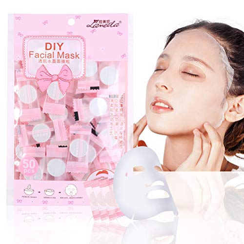 Disposable Skin Care Mask Lotion Sheet Compressed Facial Mask Disposable Facial Mask Beauty DIY Disposable Mask Paper Natural Cotton Skin Care Wrapped Masks Normal Thick 20 Pieces