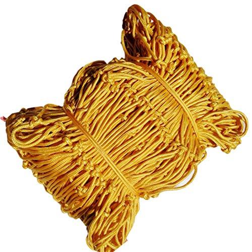 FXPCYGZ Kinder Sicherheitsnetz, Universal Schutznetz Nylon Seil Netz Dachdekor Für Geländer Gittergeflecht Zum Klettern Von Pflanzen Schwerlast Zuhause Garten, Farbe: Gelb(2 * 10m(7 * 33ft))