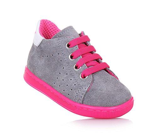 FALCOTTO - Grauer Schuh mit Schnürsenkeln aus Wildleder, ideal zum Laufen lernen und zum Krabbeln, Mädchen-24