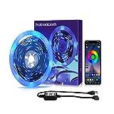 Wandskllss Kit de luces LED de retroiluminación para TV de 6 a 15 pies Tv Mirror Pc App Control Sincronización a la música Bias Iluminación 3 metros