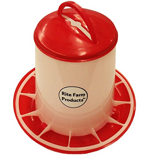 Rite Farm Products Medium HD 6.6 Pound Chicken Feeder LID & Handle Poultry Chick