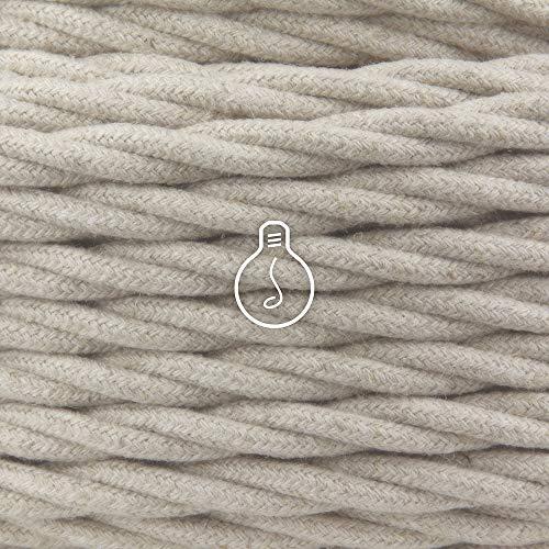 Amarcords - Cable de tela color LABRADOR, trenzado, lino, 5 metros, con...