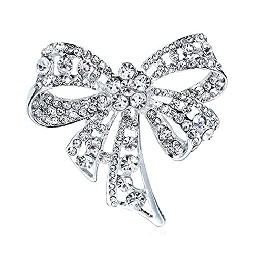 Broche de Diamantes, Broche de Señoras, Broche de Bowknot, Diamond Broche, para Fiestas, Banquetes, Bufanda Decorada, Ropa de Moda de Ropa, Accesorios de Abrigo, Joyería, Regalos
