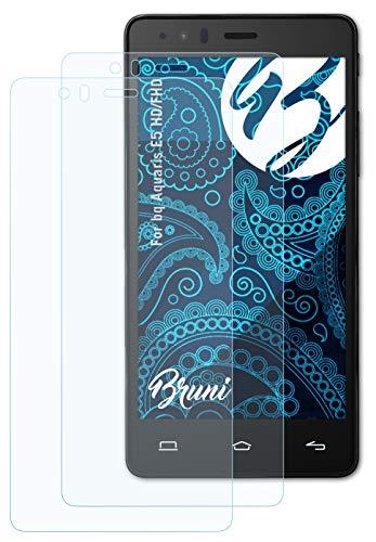 Bruni Schutzfolie kompatibel mit bq Aquaris E5 HD/FHD Folie, glasklare Bildschirmschutzfolie (2X)