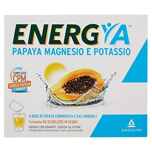 ENERGYA PAPAYA MAGNESIO POTASSIO Integratore alimentare, Confezione da 14 bustine