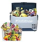 Koolatron SK30 SmartKool Refrigerator 32 Quart Portable Freezer Car Refrigerator 30L (-8℉) Bluetooth Enabled 12V DC/110V AC, Compressor Refrigerator for Travel, Camping, Car, Truck, Boat, RV