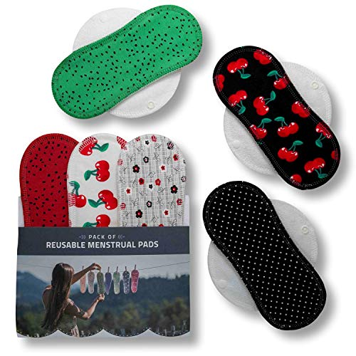 3. Compresas de incontinencia reutilizables de algodón puro Natissy