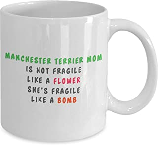 Funny manchester terrier coffee mug, i just freaking love manchester terrier ok, unique gifts for men and women