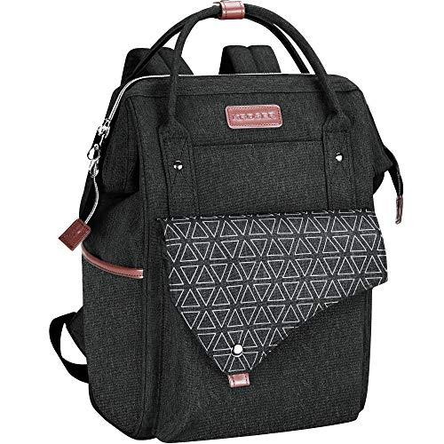 KROSER PCバッグ 15.6インチ リュックパソコンバッグ バックパック リュックサック ビジネスリュック デイパックメンズ レディース USB ポート/撥水/通学/旅行/ビジネス/スポーツ -ブラック