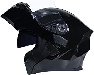 Helmet Full Face Motorcycle, Adulto Doble lense Motorbike, Crash Flip up Motorcycle Motorbike Multiple Colors to Choose from -LWAJ