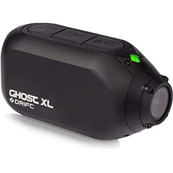 Drift Ghost XL Waterproof Action Camera 9 Hours Battery Life 1080P Full HD Rotating Lens Dash Cam Mode - Video Tagging Event Detection WiFi External Microphone (Optional) Motorcycle Cycle Camera DVR