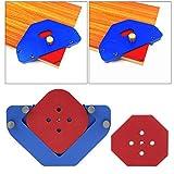 Radio de panel de madera Plantilla de posicionamiento de arco redondo rápido Plantilla de carpintería Aleación de aluminio práctica para carpintero