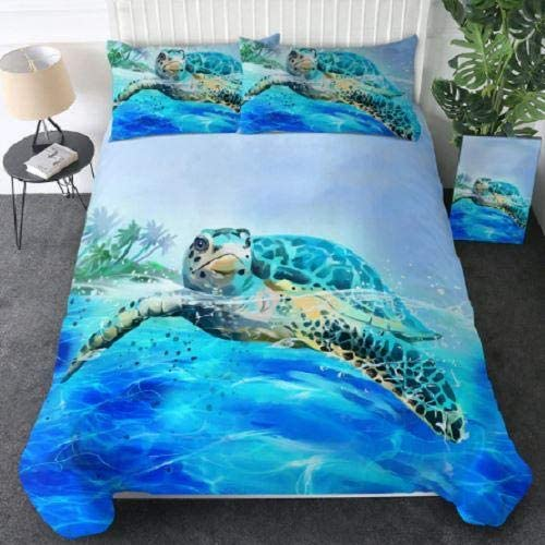 DOAN Blue Marine Animal Quilt Bed New Ranking TOP4 Free Shipping for Suitable - All Set