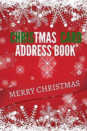 Christmas Card Address Book: A Eight-Year Address Book 8 Year Organizer Christmas Card Send And Receive Nice Gift Christmas Notebook