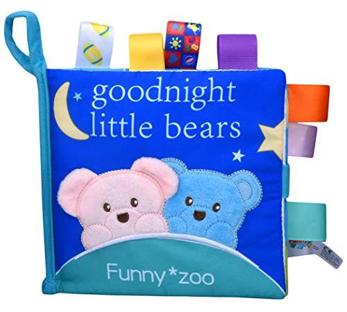 Xiaoyu tissu doux tissu tissu bébé livres jouets d'éducation de la petite enfance activité jouets tissu froissé livre, parfait pour la douche de bébé cadeau, l'heure du coucher histoire, Ours