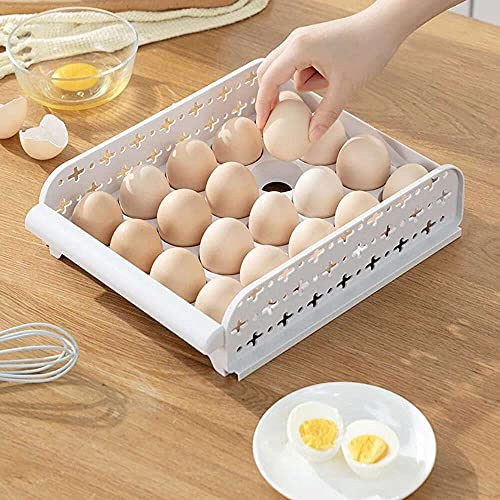 Yuyanshop m·kvfa Huevos Titular Caja De Almacenamiento De Plástico Contenedor Organizador Caja De Refrigerador Caja 20 Rejillas Huevo Diablo Bandeja Huevos Contenedores