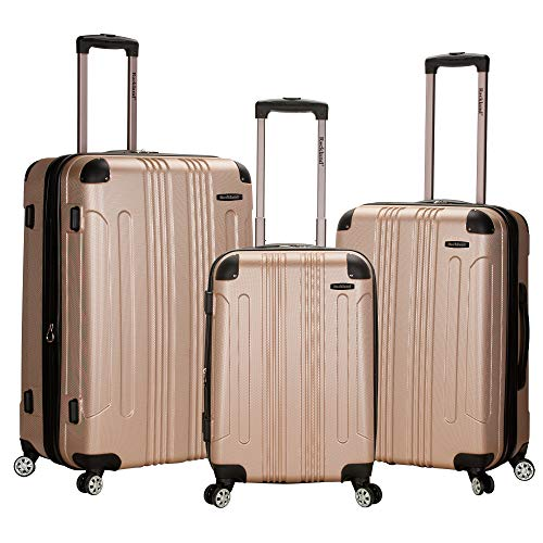 Rockland London Hardside Spinner Wheel Luggage, Champagne