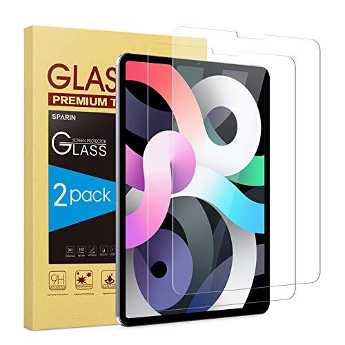 SPARIN Protector de Pantalla Compatible con iPad Air 4 y iPad Pro 11 2021/2020 / 2018, Cristal Templado de Alta Definición, 2 Piezas