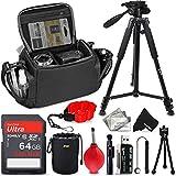 Deluxe Accessories Kit for Leica SL2-S, SL2, V-Lux 5 7, Q2, M10-R, M10, M-E, Q-P, M10-7, M10-P, C-Lux DSLR & Digital Camera Includes Case, Tripod, 64GB Memory + Accessory Bundle