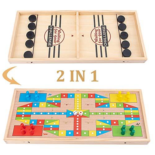 Johiux Brettspiele Sling Puck Spiel Tragbar Brettspiele Spielzeug für Kinder und Familien, 2 in 1 spielbereites schnelles Action-Spiel Kinder.