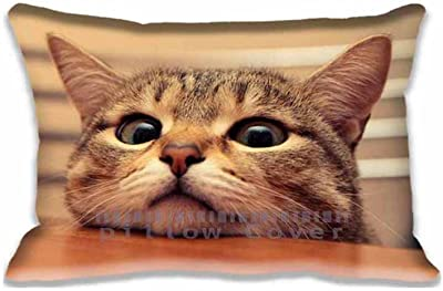 16x24inch Bedding Home Decorations Cute Cat Pillowcase Pillow Sham(Twin Sides)for New Year