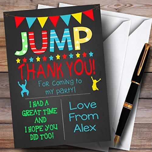 10 x Uitnodigingen Krijt Jongens Springen Trampoline Party Dank U Kaarten