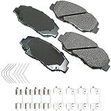 Akebono ACT914A Ultra-Premium Ceramic Front Disc Brake Pads, GREY