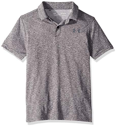 Under Armour Jungen Tour Tips Polo, Black Light Heather (001)/Pitch Gray, Youth X-Large