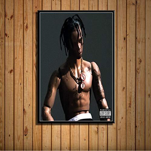 zpbzambm Frameless Wall Painting 40X50Cm - Travis Scott Astroworld Music Album Rap Music Cover Rapper Star Art Painting Canvas Wall Poster Home Decor Zp-1482