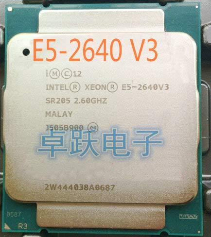 CPU E5-2640V3 SR205 2,60 GHz 8 núcleos 20M LGA2011-3 E5-2640 V3 procesador E5 2640V3 Envío Gratis E5 2640 V3