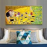 Gustav Klimt Kiss Poster Print Canvas Wall Art Wall Famous Paintings Living Room Home Quadros Decor40x80cm