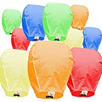 10-Pack 100% Biodegradable Eco Friendly Chinese Paper Lanterns
