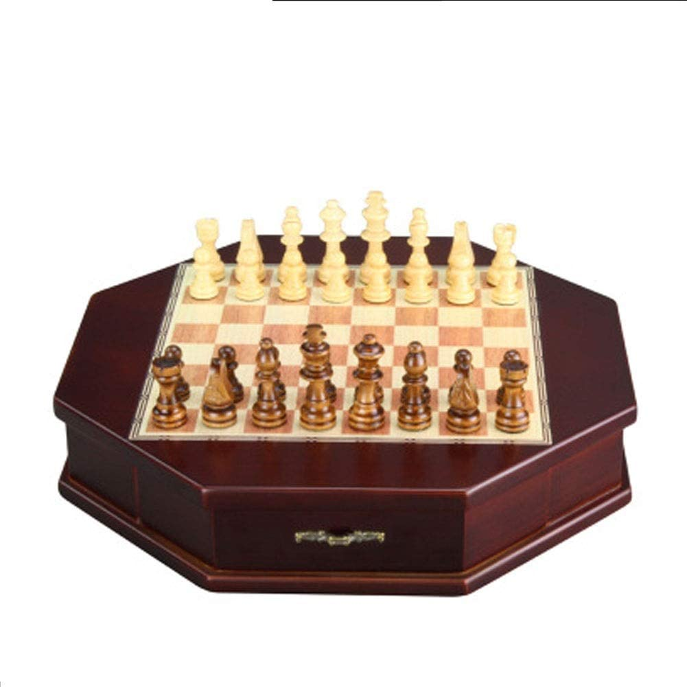 RRH Chess Set for Adults Storage Overseas parallel import regular item Chest with Outlet sale feature 2 Drawer Board