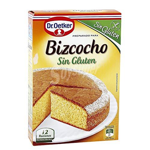 Dr. Oetker - Prepara para Bizcocho - SIN GLUTEN - - Elaborado Específicamente para Personas con Intolerancia al Gluten 364 Gramos