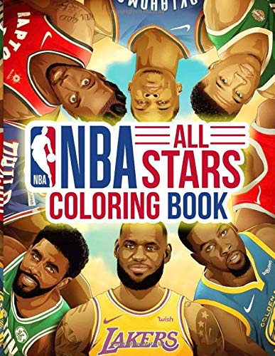NBA All Stars Coloring Book: Super coloring book with most of NBA All-stars player