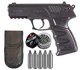 Tiendas LGP - Gamo - Pack Pistola Gamo P-27 Dual - Arma de Aire comprimido, Potencia de 3,5 Julios, 4,5 mm, Velocidad de Salida 131 m/s. + 5 Bombonas CO2 + Funda Portabombonas + 500 Bolas de Acero