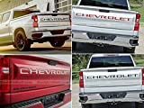 SF Sales USA - Red Tailgate Inserts for Silverado 2019-2020 ABS Letters Not Decals