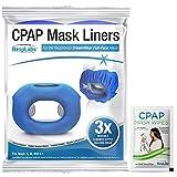 RespLabs CPAP Mask Liners - Se adapta a la mascarilla facial completa Dreamwear, paquete de 3 - Absorbe la humedad, reduce la presión y mejora la comodidad. Fundas de algodón súper suaves y lavables.