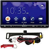 Sony XAV-AX7000 6.95' Car Stereo Safe Driver's Bundle with Voxx Backup Camera. Multimedia Digital Receiver with Apple CarPlay, Android Auto, Built-In 4x100W 4 Channel Amp, Capacitive Anti-Glare Screen