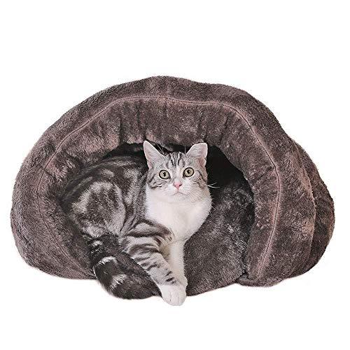 YYANG Saco De Dormir para Gatos con Fondo Antideslizante Cómodo Cálido Y Lavable A Máquina Adecuado,Gray