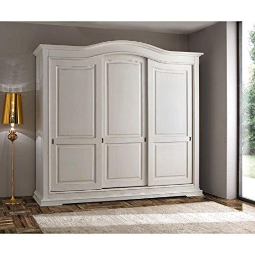 Estense – Armario 3 puertas correderas madera maciza l 294 P 68 H 265 – 499-ab: Amazon.es: Hogar