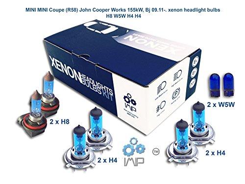 Ampoules de phares xénon lumineux  DIY, Kit simple d'utilisation   Compatible H8 H4 H4 Plus ampoules éclairage latéral gratuites W5W