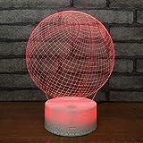 QIURUIXIANG - Luz de noche creativa, lámpara LED acrílico 3D arco iris, dormitorio escritorio noche luz táctil dormitorio QI415