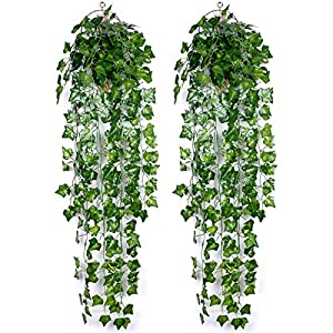 Hwceo Artificial Plants Wall Hanging Faux