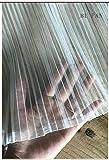 JKLAQ Telas por Metros para Vestidos- Tela De Gasa Neta Blanca Plisada A Mano Material De Diseño De Ropa De Modelado DIY, Blanco 0.5M * 1.6M