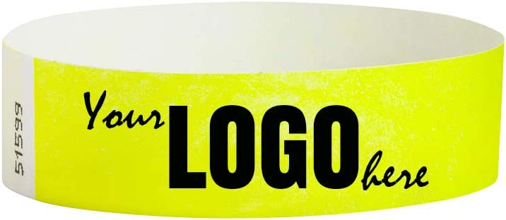 Custom 3 4 inch Tyvek Wristbands for Logo Image 4 years warranty Pers - Ranking TOP15 or Events