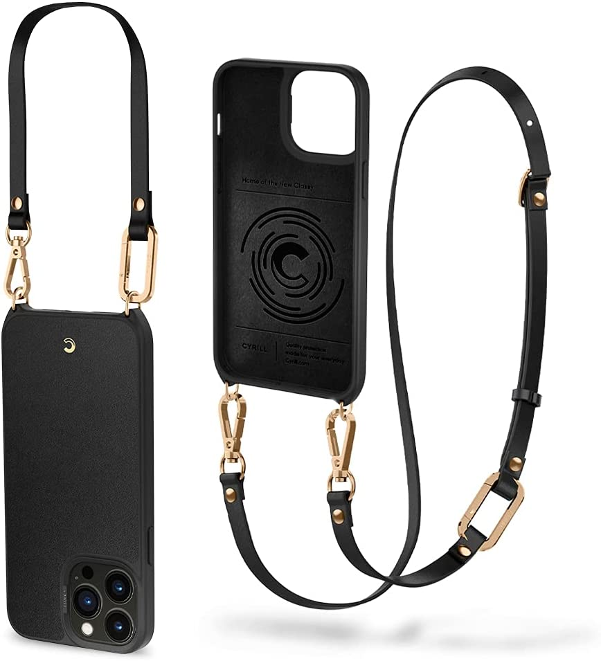 CYRILL Classic Charm Designed for iPhone 13 Pro Max Case (2021) - Black