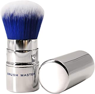 Retractable Kabuki Brush Kabuki Makeup Brushes Travel Size Kabuki Powder Blusher Foundation Brush With Soft Synthetic Bristles Blush Brush For Full Coverage Blending Mineral Stippling Liquid Cream Pow
